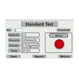 software interface of YPF-10S Oil Analysis