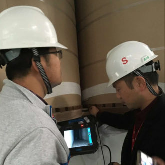What does an industrial borescope test for?