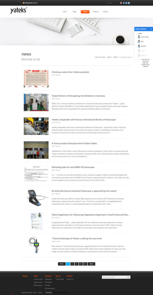 Yateks-Foreign-Trade-Website-is-on-line-2015