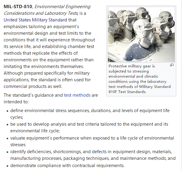MIL-STD-810,Environmental Engineering Considerations and Laboratory Tests