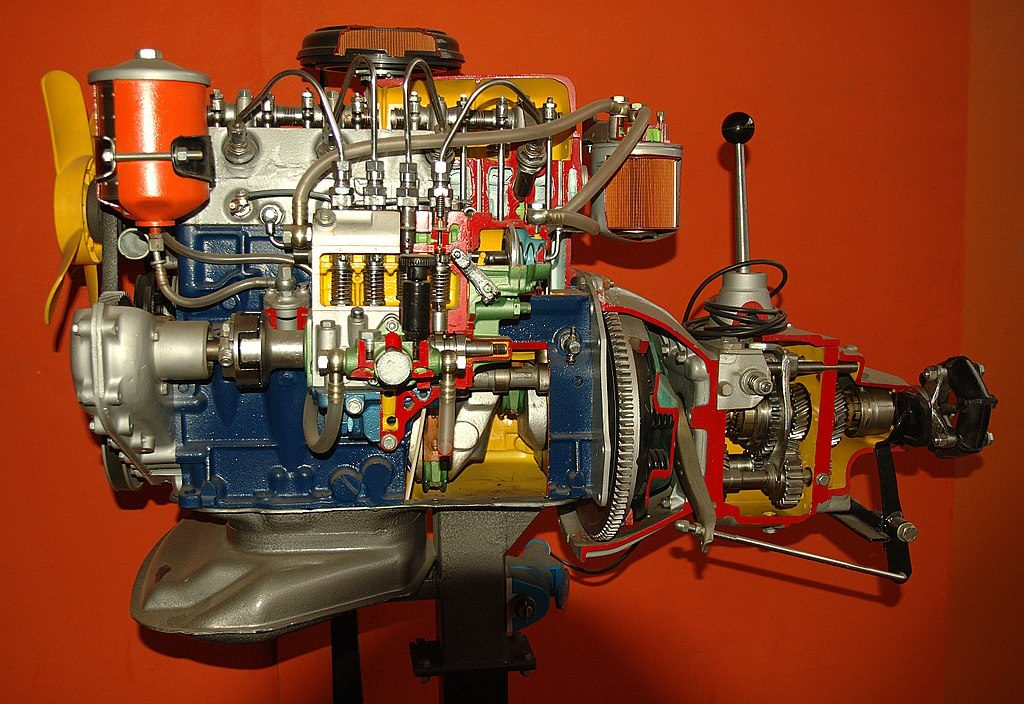 diesel engine of the ship