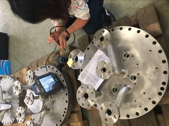 Borescope inspect Metal Casting