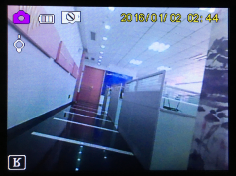 Visible LED light camera effect