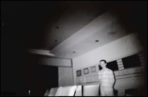 Invisible IR light camera effect