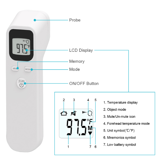 Forehead Thermometer YT-007